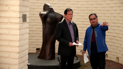 """Director Ty Kim with  Actor Wes Studi who starred in """"Dances With Wolves"""" and """"Avatar."""""""