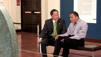 Director Ty Kim with childhood idol, Muhammad Ali