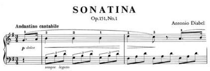 Diabella Sonatina Op. 151 No. 1