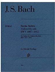 Bach Cello Suites, published by G. Henle Verlag