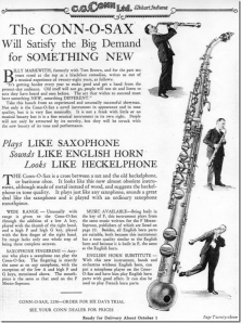 Conn-O-Sax advertisement