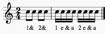 Counting 8th and 16th Notes