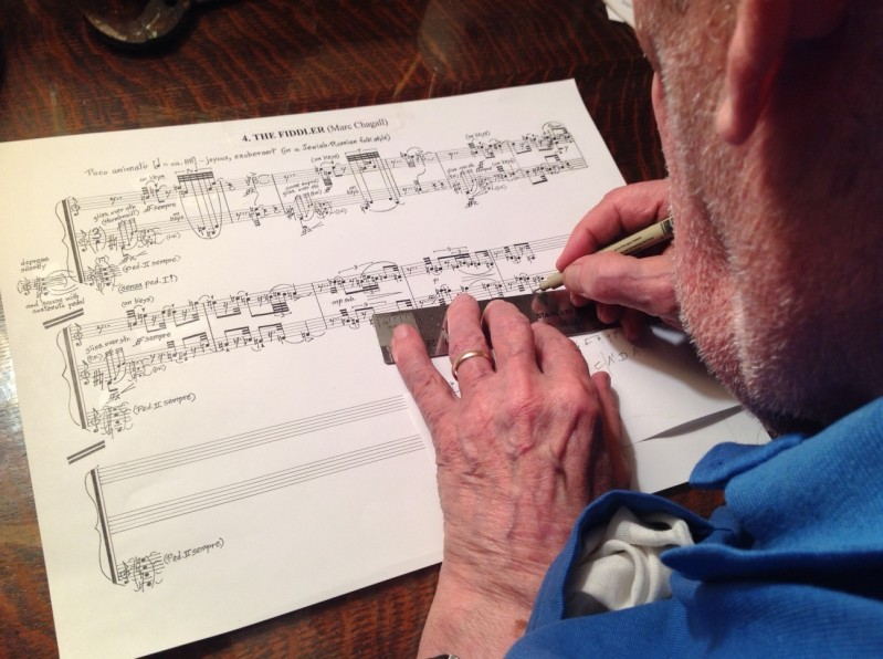 George Crumb writing Fiddler 12-26-15